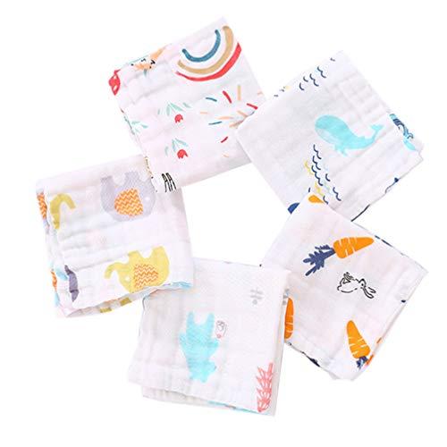 EXCEART 5 Paños de Bebé Toalla de Babeo de Algodón 6 Capas Toalla de Baño para Recién Nacidos Toallitas Naturales para Bebés Pequeños