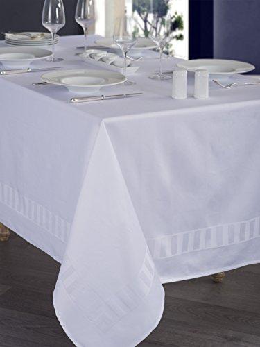 Calitex IRMA Nappe rectangulaire Coton Blanc 140x180