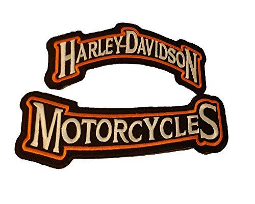 Harley Davidson Motorcyles 1 Paar Aufnäher – bestickt Motorrad/Biker Patch