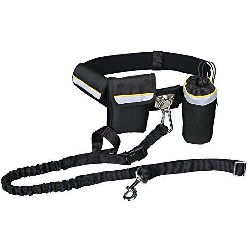 Hände frei Taille Hundeleine Verstellbare Führleine Praktische Taschen Gürtel Joggen Walking Running