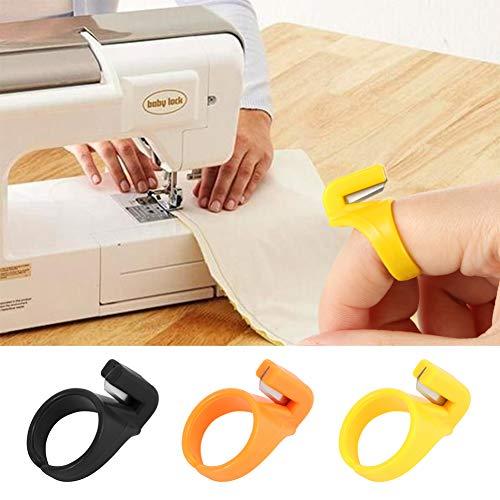 Aisoway Plástico Anillo de Costura dedal Dedo del Hilo de la Aguja del Cortador del hogar Confección Accesorio de la máquina 3pcs / Set