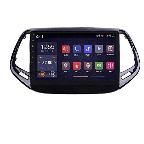 Radio de coche Android 8.1, GPS, pantalla táctil de 9 pulgadas, estéreo, TV, para Jeep Compass 2017 2018, con control en el volante, Bluetooth, manos libres, enlace DAB USB, MP5 SWC, 4G + WIFI2G + 32G