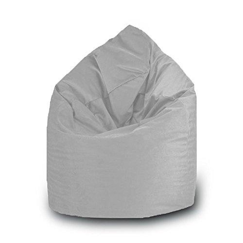 Pouf goutte imperméable en polyester pour extérieur 75 x 120 cm Taille L gris pierre