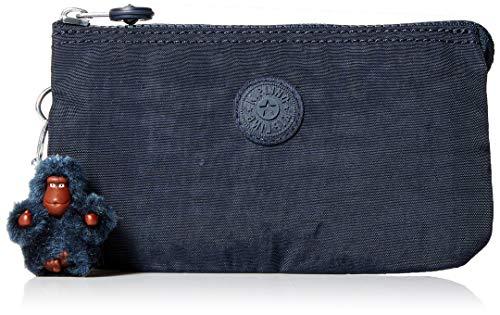Kipling Women's Creativity Large Pouch, Multi Compartment, Zip Closure, True Blue Tonal
