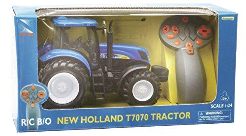 New Ray - 88553 - Véhicule Miniature RadioCommandé - Tracteur New Holland - Echelle 1/24