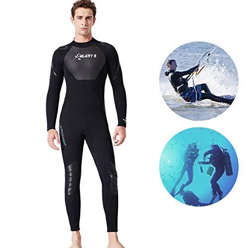 Herren 3Mm Neoprenwetsuit Mit Super-Stärke, Pannensicher Und Verschleißfest Surfen Anzug, Ideal Zum Surfen Und Tauchen,M