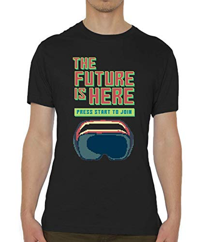 The Future Is Here Virtual Reality Pixel Art Camiseta para Hombre X-Large