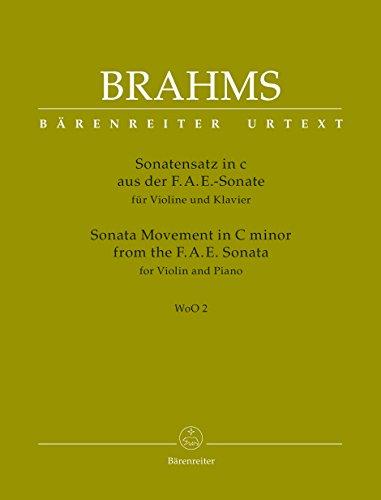 Sonatensatz aus der F.A.E.-Sonate für Violine und Klavier c-Moll WoO 2