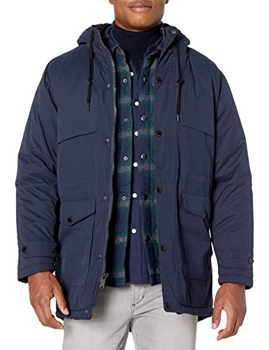 Ben Sherman Herren Parka Jacket Daunenalternative, Mantel, Langer Blazer in Marineblau, Klein