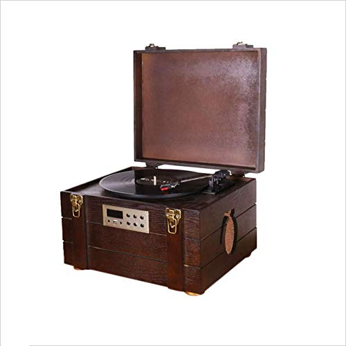 Grammophon Munitionskiste LP Schallplattenspieler Vintage Schallplattenspieler Bluetooth/U Disk/Radio: 41,5 * 33 * 27 cm