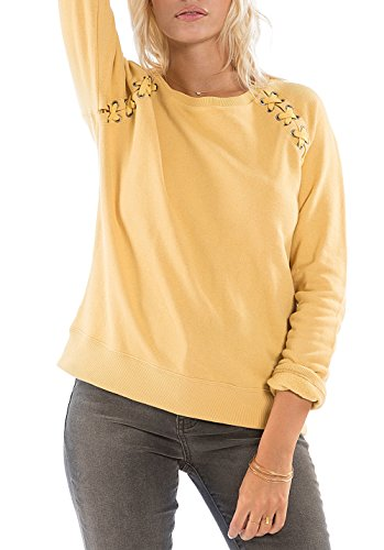 BILLABONG Cross Lace–Sudadera para Mujer, Mujer, F3FL01, Or (Gold Dust), FR : M (Taille Fabricant : M)