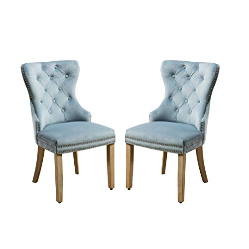 Velvet Pekko Upholstered Dining Chairs Set of 2