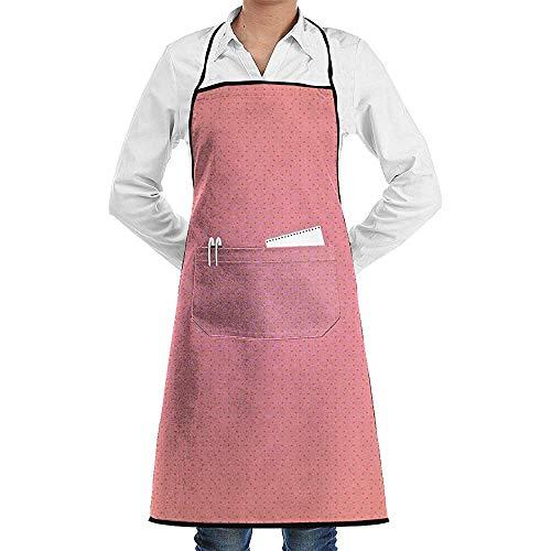 Keuken schorten Zalm Patroon Polyester Lange Volledige Zwarte Koken Restaurant Keuken Womens Chef Bbq Mens Verstelbare schorten Bib Met Zakken Bakken Grill Unisex Tuinieren Crafting Adult