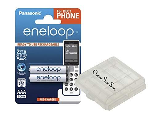 OSS Akku-Box mit 2X AAA Micro Akkus 800 mAh wiederaufladbare Batterien Ersatz Akku für Schnurlos Telefon Telekom Speedphone 10 11 31 32 51 52 100 500