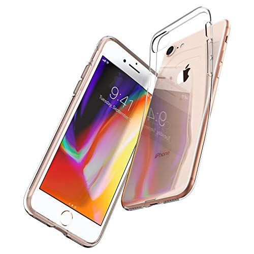 Spigen Coque iPhone 7, Coque iPhone 8 [Liquid Crystal] Souple en Silicone, Lgre, Ajustement Parfait, Protection aux 4 Coins - [Air Cushion] Compatible avec iPhone 7/8 - Transparente