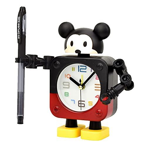Reloj Despertador, Reloj Despertador De Cabecera, Robot Mute Small Reloj De Alarma, Reloj Despertador Brillante, Reloj De Mesa, Niños Estudiando Dormitorio Decoración