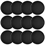 Coopay 12 Pieces Home Air Hockey Pucks 2.5 Inch Heavy Replacement Pucks for Game Tables Equipment Accessories, 13 Grams (Black)