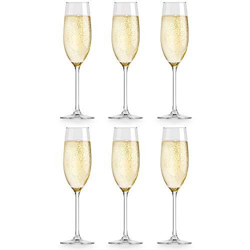 Libbey Bicchiere da Champagne Atna - 21 cl / 210 ml - set di 6 pezzi - design elegante -...