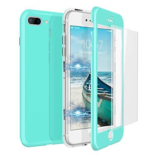 CE-Link Funda iPhone 7 Plus Funda iPhone 8 Plus y Cristal Templado iPhone 7...