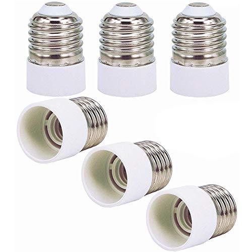 Casquillo de Lámpara Adaptador BESLIME 6pcs Casquillos de Lámpara - Adaptador Conversor de Montura E27 a Casquillo E14,Adecuado Para LED Halógena y de Ahorro Energético