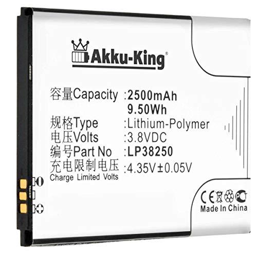 Akku-King Akku kompatibel mit Hisense LP38250 - Li-Polymer 2500mAh - für Mira II, EG980, T978, T980, U978, U980