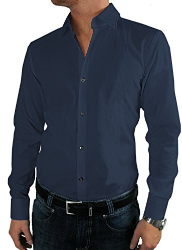 Hugo Boss Business-Hemd | Jenno (Slim Fit) dunkelblau/dark blue (42 | L)