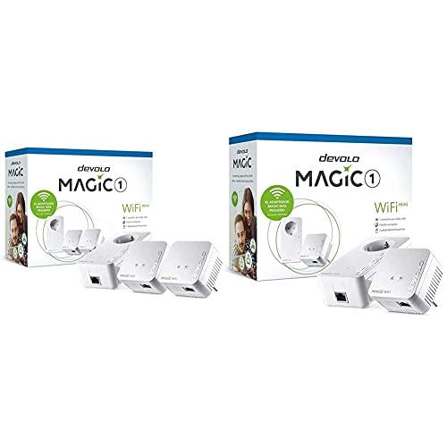 Devolo Magic 1 – 1200 WiFi Mini Multiroom Kit: Set Compacto con 3Adaptadores Powerline para WiFi + Magic 1 – 1200 WiFi Mini Starter Kit: Set Compacto con 2Adaptadores WiFi