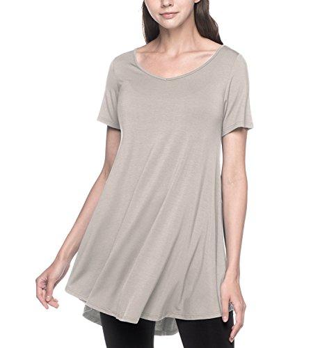 LAPASA Vestidos Mujer Camiseta Larga Blusa Casual Talla Grande Manga C