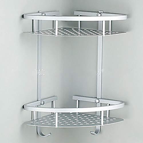 ETH Badkamer Hoek Frame 2 Laag Ruimte Dubbele Driehoek Douchemand Shampoo Zeep Cosmetica Opslag Rack Aluminium Frame duurzaam