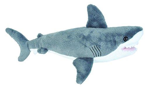 Lashuma Cuddlekins Plüschtier Weißer Hai, Kuscheltier Fisch 25 cm