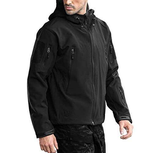 FREE SOLDIER Chaqueta Impermeable Softshell para Hombres Cha