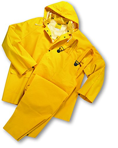 West Chester 4035FR Polyester Rain Suit [Yellow] Medium, 0.35 mm PVC Coating, Limited Flammability, FR Suit