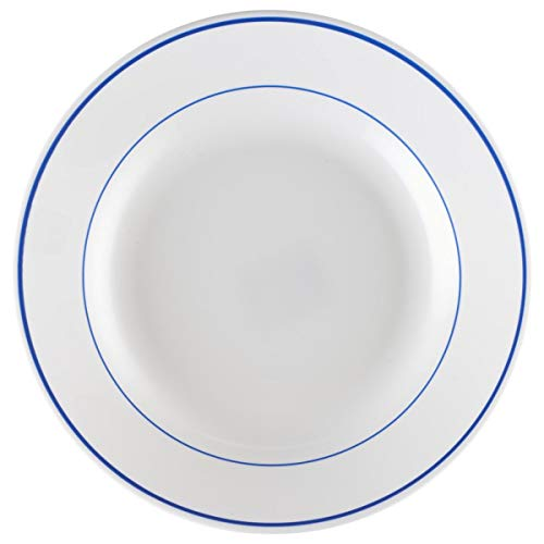 Teller tief Filet Delft, 200ml, 22.5x3 cm (ØxH), weiß/blau, rund, 6 Stück/Packung