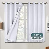 BGment 100% Blackout Grommet Jacquard Thermal Curtains