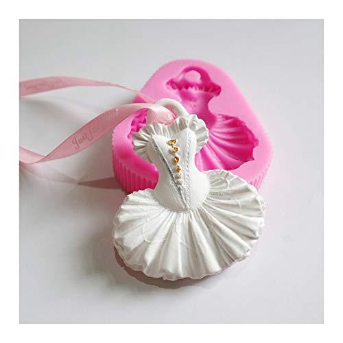 HONGTAI Anhänger Gipsform Brautkleid Duftwachsblattform Aroma Gips Crafts Seife Ton-Silikon-Form