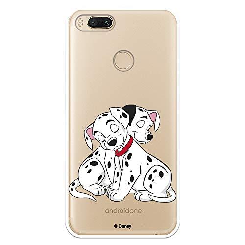 Funda para Xiaomi Mi A1-Mi 5X Oficial de 101 Dálmatas Cachorros Abrazos para Proteger tu móvil. Carcasa para Xiaomi de Silicona Flexible con Licencia Oficial de Disney.