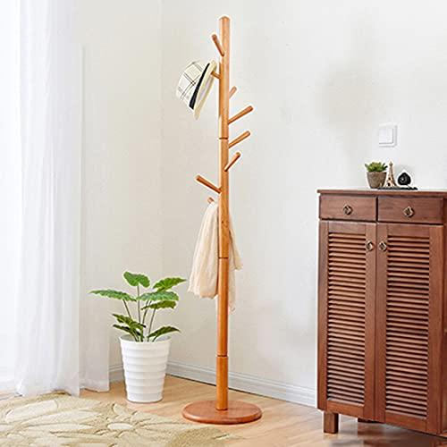 DFLY Percheros de árbol rústico de pie, Perchas de Madera de diseño Moderno para Sombrero, monederos, Chaquetas, Bufanda, Bolso, Baratos Muebles para Entrada, Oficina, Dormitorio, Sala de Estar