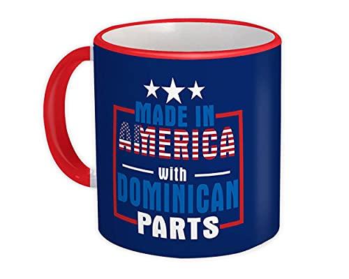 Hecho en América con repuestos dominicanos : Taza de Regalo : País de expatriado Estados Unidos República
