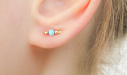minimal jewelry teen girl bar earrings cool Gold bar Titanium earrings long stick earrings thin minimalist earrings line ear climbers