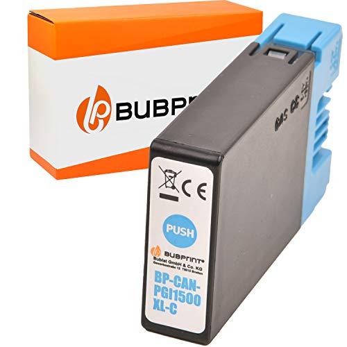 Bubprint Druckerpatrone kompatibel für Canon PGI-1500XL C für Maxify MB2000 MB2050 MB2100 MB2150 MB2155 MB2300 MB2350 MB2700 MB2750 MB2755 Cyan