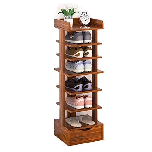 WJJ Zapatos Organizador Zapatero, 7Tiers De Bambú Natural Zapatero For El Armario;Zapato Duradera Organizador/Espacio (Color : C)