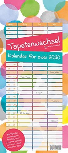 Tapetenwechsel 2020 - Kalender für zwei - Notizkalender - Partner-Planer - Format 22 x 49,5 cm