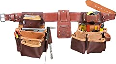 Premium top-grain leather; Made in USA Hand-specific tool holders promote maximum working rhythm on the job; Available in sizes small through xxx-large Copper rivets reinforce main bags.NoSpill Tool Holder System No Spill tool holder system; Function...