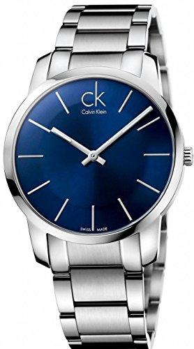 Calvin Klein Hombres Reloj de Esfera Azul de Acero Inoxidable de la Ciudad K2G2114N