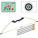 UniGram arco e frecce per bambini e ragazzi, per il tiro con l'arco e le attività all'aperto; un fantastico regalo. Set: arco (543 g) con 4 frecce., set