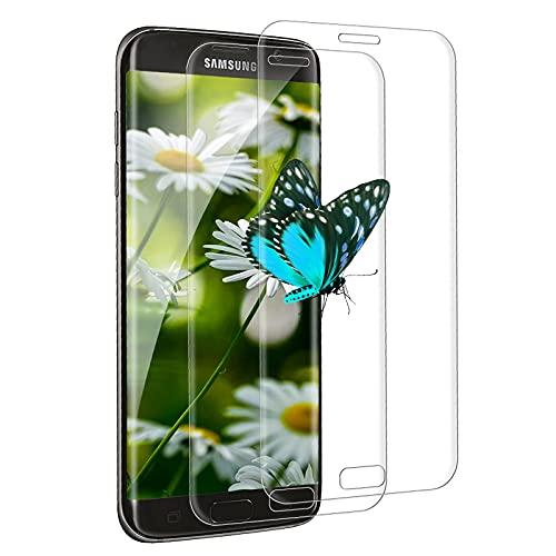 [2 Pezzi] Pellicola Protettiva in Vetro Temperato per Samsung Galaxy S7 Edge,3D Pellicola Protettiva per Schermo Completa, Durezza 9H, Antigraffio, per Samsung Galaxy S7 Edge (Trasparente)