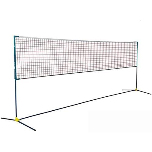 Oceanindw Red de Bádminton Plegable Ajustable, Rack de Red de Tenis Portátil Diversión Familiar en el Jardín Al Aire Libre Voleibol de Red Combinado de Deportes Múltiples