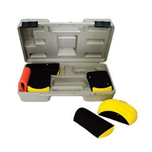 6-teil. Schleifblock-Set im Koffer Handschleifklotz Handblock-Set