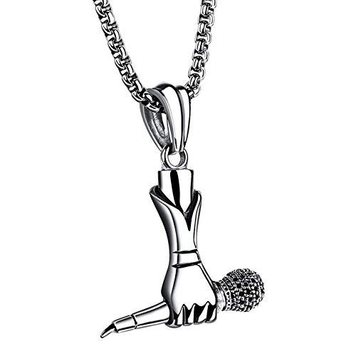Titanium Steel Microphone Pendant Necklace