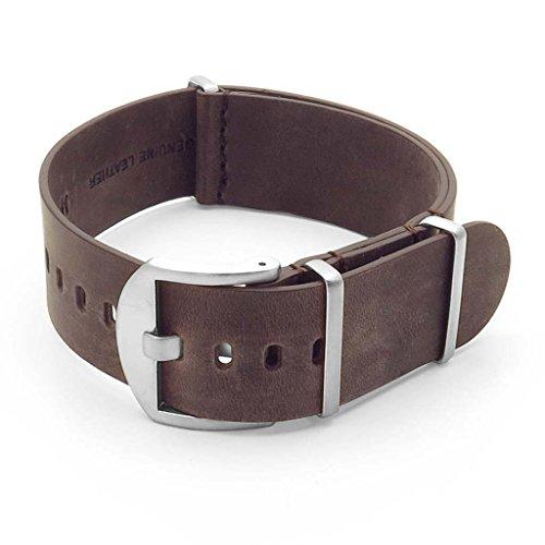 DASSARI Veteran Italian Leather NATO Strap Watch Band